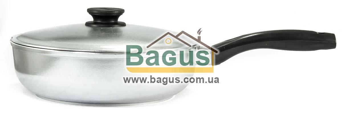 Сковорода 26см глубокая с утолщенным дном и крышкой Биол (2609БК)