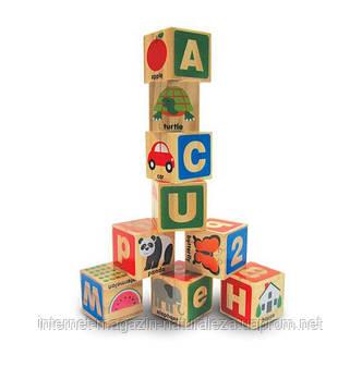 Деревянные блоки ТМ Melissa&Doug Цифры/Буквы, фото 2