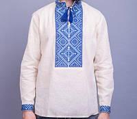 Нарядная мужская вышитая рубашка на из домотканного полотна, фото 1