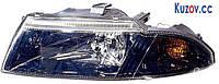 Фара Mitsubishi Carisma 99-04 левая (DEPO) темный рассеиватель