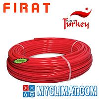 Труба для теплого пола Firat PEX-b 16x2 с кислородным барьером красная