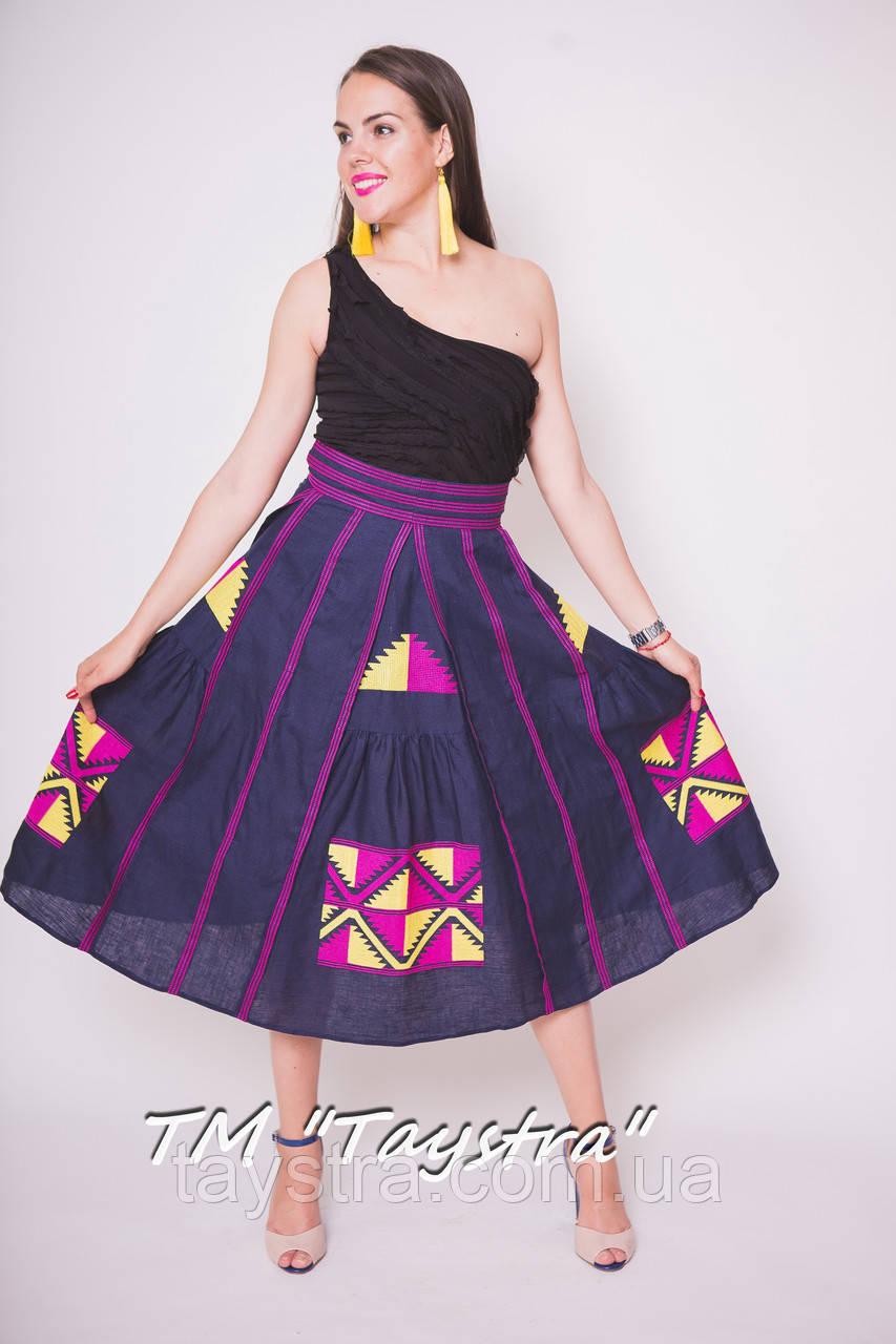 Юбка женская с вышивкой, 4 клина,бохо, этно стиль  Vita Kin,Bohemian