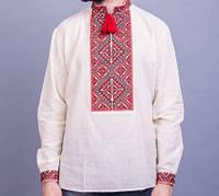 Вышиванка мужская из натуральной льняного полотна