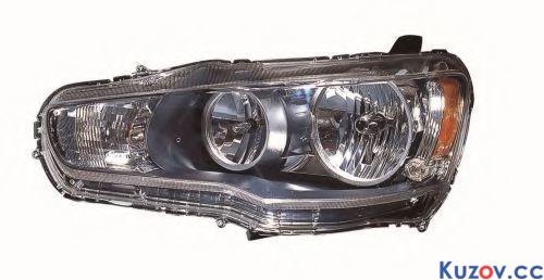 Фара Mitsubishi Lancer X (10) 07- правая (Depo) электрич. 214-1190R-LD