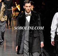 Пальто роскошное с натуральным мехом, производство Украина