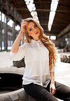 Женская белая летняя блузка