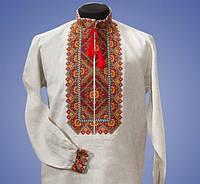 Красивая мужская вышиванка с оригинальными цветными узорами