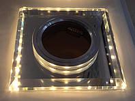 Точечный светильник 6017WLED с подсветкой, фото 1