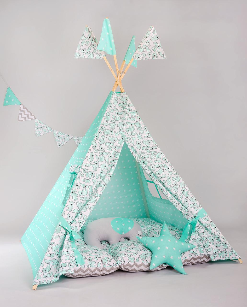 Вигвам- палатка  «Мятный носорог»