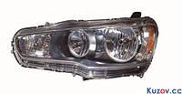 Фара Mitsubishi Lancer X (10) 07- правая (DEPO) нелинзованная механич. 214-1190R-LD-E2