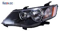 Фара передняя для Mitsubishi Outlander XL '07-09 правая (DEPO) черн. электрич. 214-1188RMLDEM2