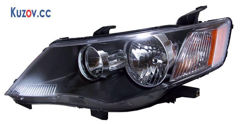 Фара Mitsubishi Outlander XL 07-09 правая (Depo) черн. электрич. 214-1