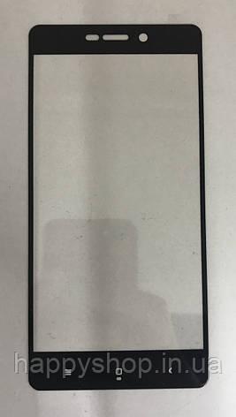 Защитное 3D стекло для Xiaomi Redmi 4a (Черное) проклеивается по всей площади, фото 2