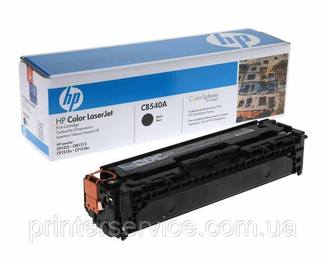 Cartridge HP CB540A black для цветных принтеров LJ CP1215 и CP1515 series (№125A)