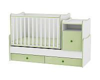 Кровать-трансформер TREND PLUS NEW COLOUR WHITE/GREEN + mattress