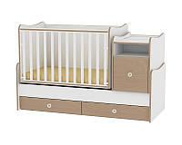 Кровать-трансформер TREND PLUS NEW COLOUR WHITE/BEECH + mattress