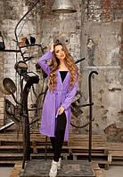 Женский летний фиолетовый кардиган с ангоры