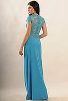Роскошное длинное платье Канны Ри Мари голубой