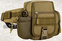 Поясная (наплечная) тактическая сумка Protector Plus Y117 КОЙОТ