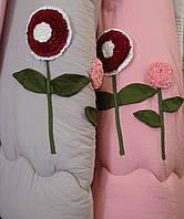 Одеяло двухспальное бамбуковое с аппликацией.