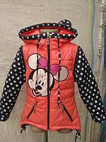 Куртка жилет для девочки Мики Маус