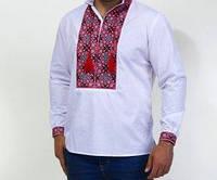 Недорогая мужская вышиванка с богатым орнаментом, фото 1