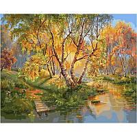 Картины по номерам 40 х 50 см. Березки в золоте осени.