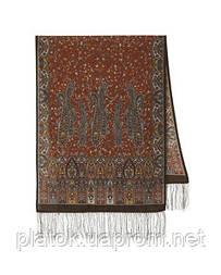 Медея 1473-67, павлопосадский вовняний шарф з шовковою бахромою