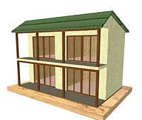 Проект мини гостиницы на 4 номера 69,00 кв.м.