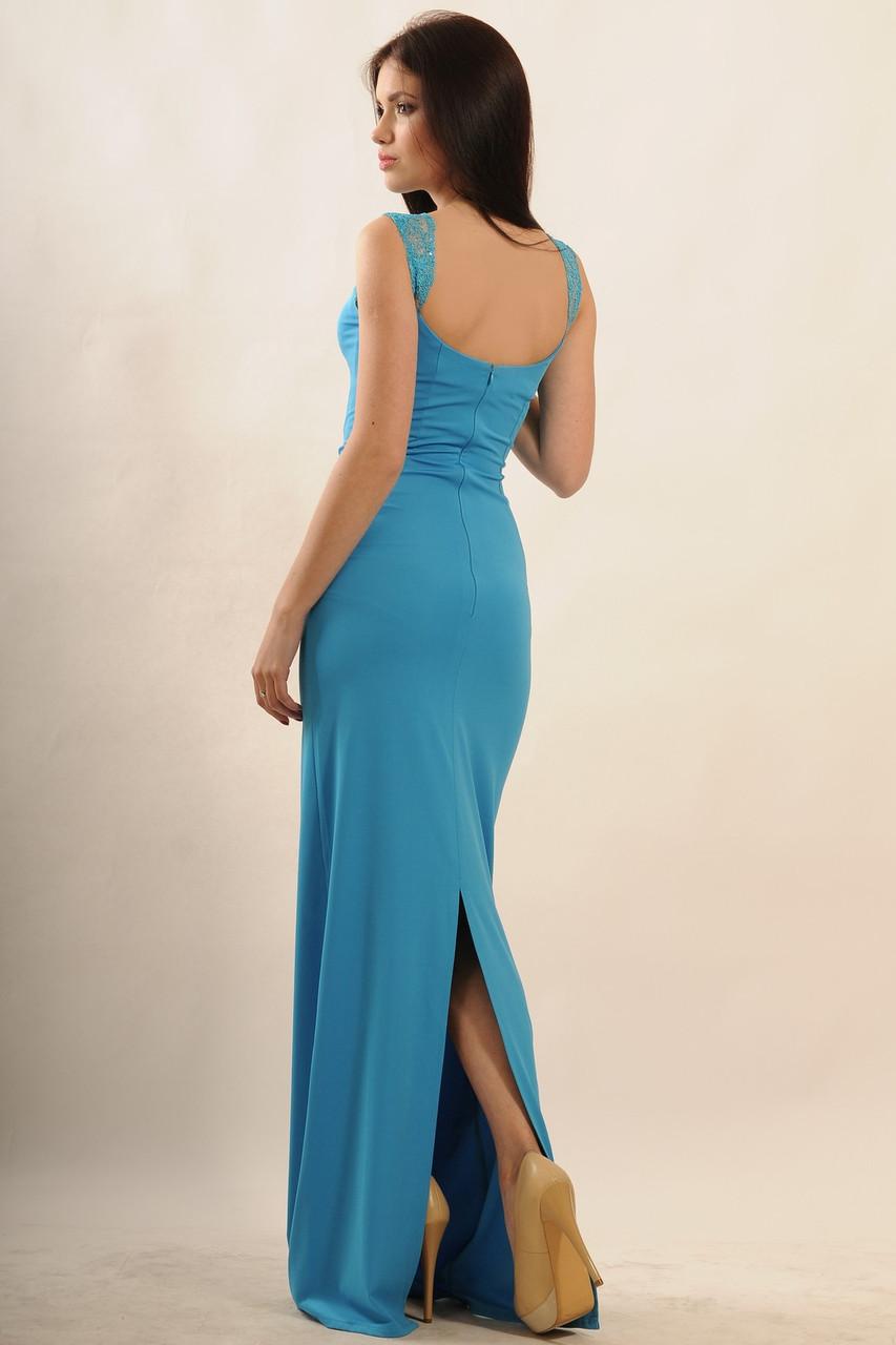 Элегантное вечернее платье Венеция Ри Мари голубой