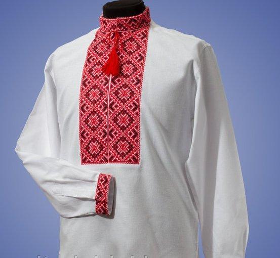 Мужская вышиванка из батиста