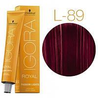 Schwarzkopf IGORA ROYAL Fashion Lights Оттенки для цветного мелирования L-89 красный фиолетовый