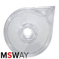 Тара для декора пластик - контейнер 37350 для декор-ленты круговой прозрачный