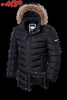 Куртка на меху удлиненная зимняя мужская Braggart - 4755H черная