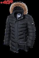Куртка на меху удлиненная зимняя мужская Braggart - 4755S графит