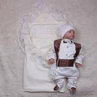 """Нарядный крестильный набор """"Волшебный мальчик"""" (шоколад)"""
