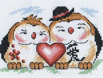 """Набор для вышивки крестом """"Panna"""" Любовь в доме И-0590"""