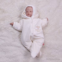 """Велюровый набор для новорожденных """"Baby Brilliant"""" (айвори) на махре"""