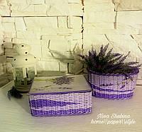 """Набор для хранения бижутерии и корзина для расчесок 'Прованс"""", фото 1"""