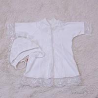 "Крестильная рубашка для младенцев ""Анна"" (айвори)"