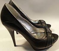 Туфли женские летние эко-кожа р36 ZHULIANNA 14 черные VADD