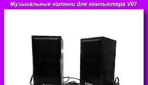 Музыкальные колонки для компьютера 2.0 V07, фото 2
