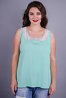 Аделина. Красивая блуза больших размеров. Мята.