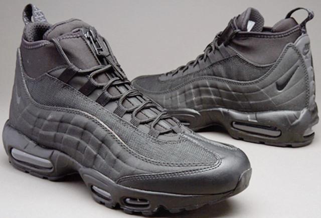 95b70786 Мужские зимние кроссовки в Технолюкс. Обратите внимание на Nike Air Max 95  Sneakerboot All Black ...