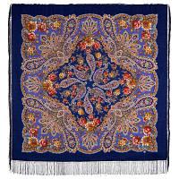 В лучах солнца 1682-14, павлопосадский платок шерстяной с шелковой бахромой
