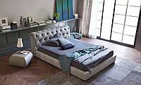 Кровать двуспальная Люкс Честер 2, полукруглые царги без матраса с ящиком для белья