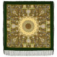 Дикий мёд 1712-10, павлопосадский платок шерстяной (двуниточная шерсть) с шелковой бахромой