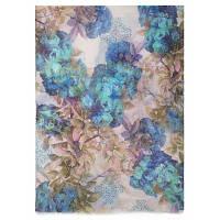 10171 палантин шерстяной 10171-15, павлопосадский шарф-палантин шерстяной (разреженная шерсть) с осыпкой