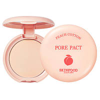 Skinfood Peach Cotton Pore Pact Компактная пудра для маскировки пор