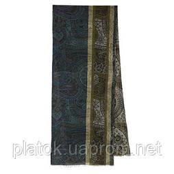 10372 кашне мужское разреженная шерсть 10372-16, павлопосадский шарф (кашне) шерстяной (разреженная шерсть) с осыпкой